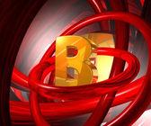Letra b en el espacio abstracto — Foto de Stock