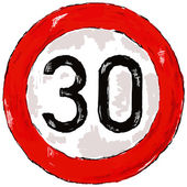 Speed limit thirty — Stock Photo