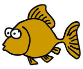 Funny fish — Vector de stock