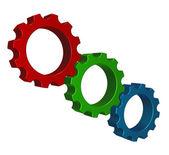 Rodas de engrenagem de rgb — Foto Stock