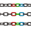 Stock Photo: Rgb chains