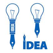 Idea symbols — Stock Vector
