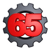 Number and cogwheel — Stock Photo