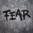 Fear on grunge background — Stock Photo #5688209