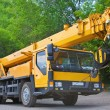 Heavy mobile crane truck  — Stock Photo