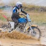 Young moto cross rider — Stock Photo