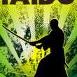 Martial arts poster karate,iaido,kendo, judo,jiu-jitsu — Stock Photo