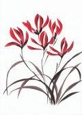 赤い山の花 — ストック写真