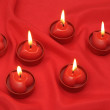 火红的心 — 图库照片