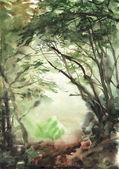 霧の森 — ストック写真