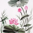 Watercolor painting of lotus flower — Lizenzfreies Foto