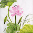 Постер, плакат: Watercolor painting of lotus flower