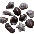 Assorted chocolate candies — Stockfoto