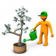 Euro Money Plant — Stock Photo
