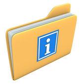 Folder Info — Stock Photo