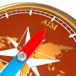 Aim Compass — Stock Photo