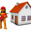 Fireman House — Stock Photo