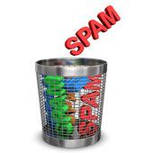 Spam Wastebasket — Stock Photo