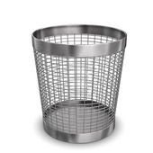 Steel Wastebasket — Stock Photo