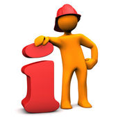 Fireman Info — Stock Photo