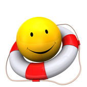 Lifebelt Yellow Smiley — Stock Photo