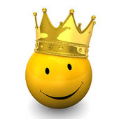 Smiley Golden Crown — Stock Photo