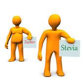 Stevia zucker — Stockfoto