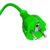 Green Plug — Stock Photo