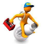 Electrician Rides — Stock Photo