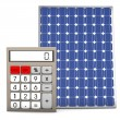 Solar Panel Calculator — Stock Photo