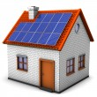 Royalty-Free Stock Photo: House Solar Panels