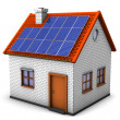 House Solar Panels - Stock Photo