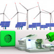 Expensive Green Energy — 图库照片