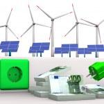 energía verde caro — Foto de Stock