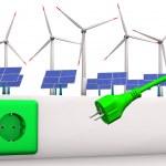 conector de energía verde — Foto de Stock