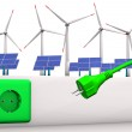 grüne Energie Stecker — Stockfoto
