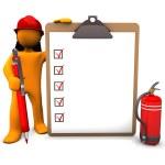 hasič schránka — Stock fotografie