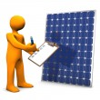 Clipboard Solar Panel — Stock Photo