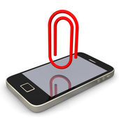 Smartphone Papperclip — Stock Photo