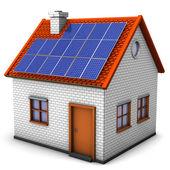 House Solar Panels — Stock Photo