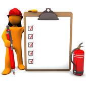 Feuerwehrmann-zwischenablage — Stockfoto