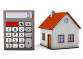 House With Calculator — Stock Photo