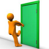 Secured Door — Stock Photo