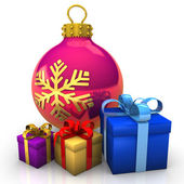 Bauble Gifts — Stock Photo