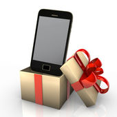 Smartphone In Gift — Stock Photo