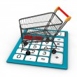 Shopping Cart Calculator 2 — Stock Photo