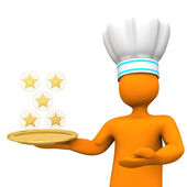 Five-Star Chef Toon — Stock Photo