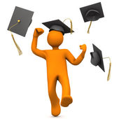 Lucky Graduate — Stock Photo