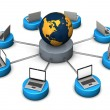 Networked World — Stock Photo
