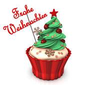 Merry Christmas Cupcake — Stockfoto